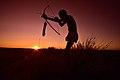 Elia Fester, Kalahari Khomani San Bushman, Boesmansrus camp, Northern Cape, South Africa (19919968233).jpg