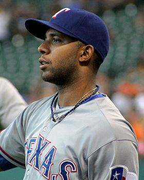 Elvis Andrus playing catch at Minute Maid August 2014.jpg