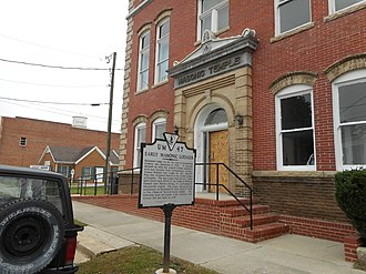 Hicksford–Emporia Historic District - The Widow's Son's Masonic Lodge, one of numerous historic buildings within the district
