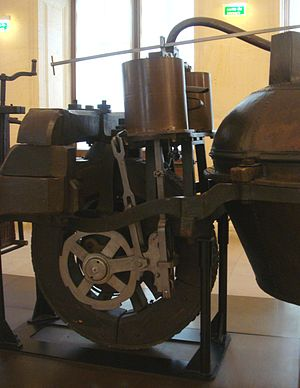 Nicolas-Joseph Cugnot - Engine part of Cugnot's 1770 fardier à vapeur, as preserved at the Musée des Arts et Métiers, Paris.