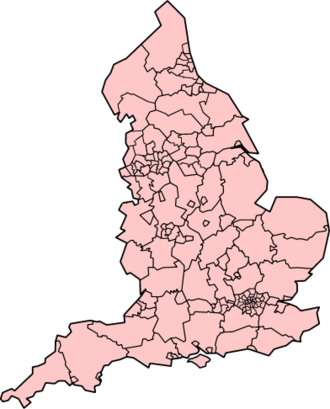 """North East England devolution referendum, 2004 - The counties and unitary authorities of England, if """"yes"""" and option 2 is chosen in all referendums."""