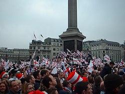 Celebrazioni a Trafalgar Square (8 dicembre 2003)