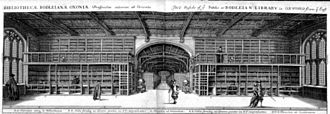 Duke Humfrey's Library - Engraving of Arts End, Duke Humfrey's Library