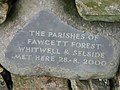 Engraving on one of the stones in the cairn, Whiteside Pike - geograph.org.uk - 259151.jpg