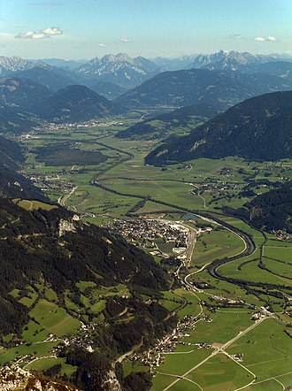 Enns (river) - The Ennstal between Stainach and Liezen