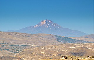 Mount Erciyes volcano in Turkey