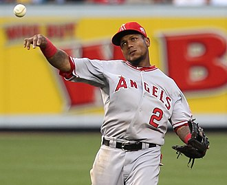 Erick Aybar - Aybar with the Angels in 2011