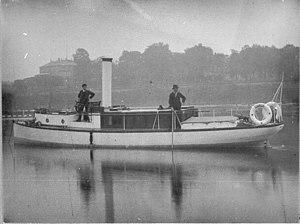 Ermenegildo Antonio Donadini - Dampffährboot 'Georgie' auf der Elbe.jpg