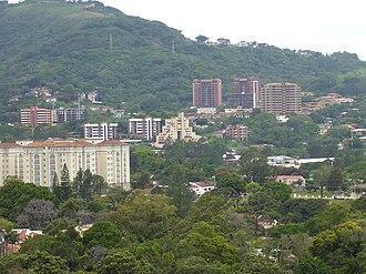 Escazú (canton) - Skyline of Escazu City.