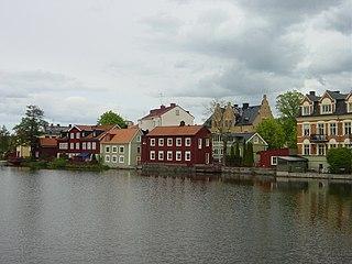 Eskilstunaån river in Södermanland, Sweden