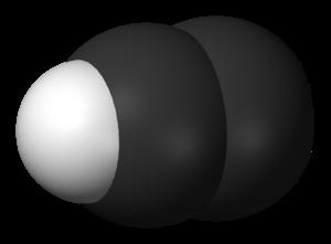 Ethynyl radical - Image: Ethynyl radical 3D vd W