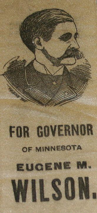 Eugene McLanahan Wilson - 1888 Wilson campaign ribbon