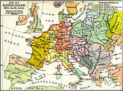 carte europe 9eme siecle