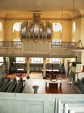 Organ in the east aisle