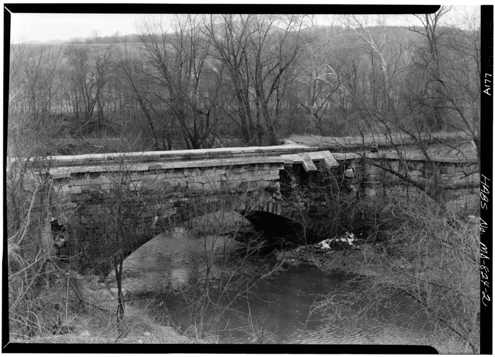 Evitts Creek Aqueduct on Chesapeake and Ohio Canal from HABS