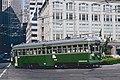 Ex-Kobe streetcar 578 turning into SF Transbay Terminal in 1987.jpg