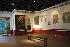 Museo Nacional de las Intervenciones - Room showing artifacts from sites history