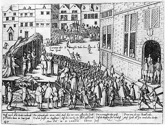 Sodomy - Monks accused of sodomy burned at the stake, Ghent 1578