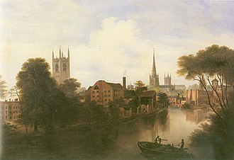 St Alkmund's Church, Derby - Image: Exeter Bridge View Robert Bradley