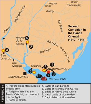 Second Banda Oriental campaign - Image: Expedición BO 1811 14 en