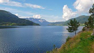 Førde Fjord - Image: Førdefjorden August 2