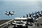 F-A-18E Super Hornet launches from flight deck 121009-N-NB538-089.jpg
