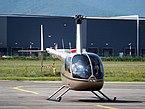 F-HJPR R44 Raven II take off from Colmar - Houssen Airport (IATA=CMR, ICAO=LFGA), photo 1.JPG