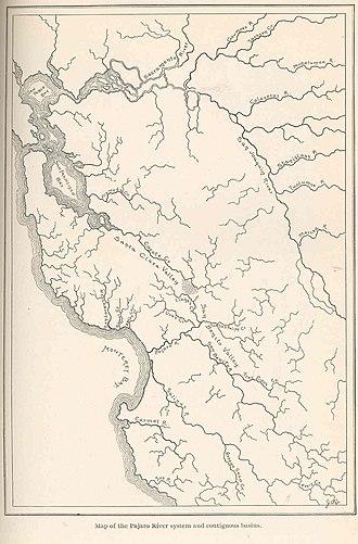 Pajaro River - Image: FMIB 39077 Map of the Pajaro River system and contiguous basins
