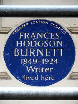 Frances hodgson burnett 1849 1924 writer lived here