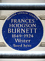 FRANCES HODGSON BURNETT 1849-1924 Writer lived here.jpg