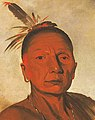 Face detail, George Catlin - Kid-á-day, a Distinguished Brave - 1985.66.57 - Smithsonian American Art Museum (cropped).jpg
