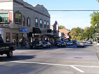 Fair Oaks, California - Fair Oaks Blvd as it passes though Fair Oaks Village