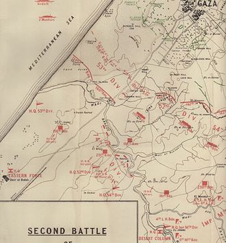 Second Battle of Gaza - Western operations on 17 April 1917