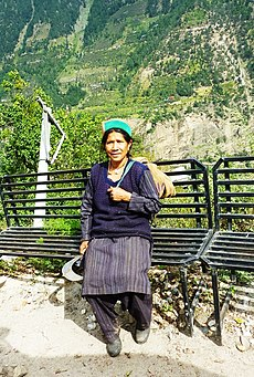 Farm worker wearing traditional Kinnaur cap