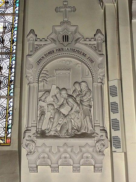 Feignies (Nord, Fr) église, chemin de croix, station 03