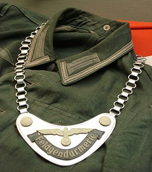 Gorget - German military police gorget from WW2.