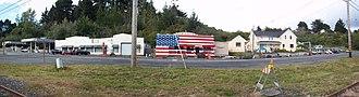 Fernbridge, California - View of Fernbridge along 211