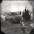 Fiat 500 at a cafe - Flickr - pinemikey.jpg