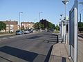 Fieldway tramstop bus stop look south.JPG