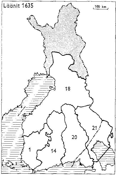 Finnish counties 1635