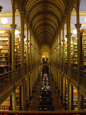 Copenhagen University Library - The Central Hall of the University Library in Fiolstræde
