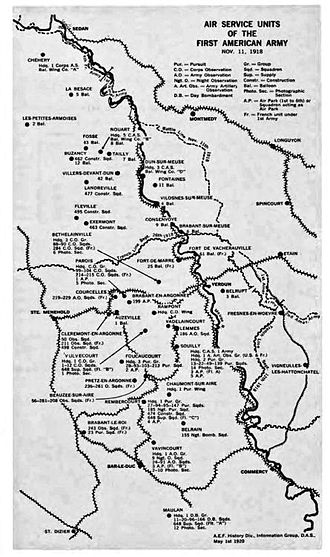 First Army Air Service - First Army Air Service units and stations