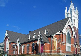 Downtown Ossining Historic District - Image: First Baptist Church of Ossining, NY