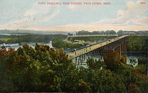 Fort Snelling - Bridge linking Ft. Snelling with St. Paul, 1880–1912