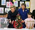 First Lady Hillary Rodham Clinton and Sara Netanyahu at Neve Shalom-Wahat-Al-Salam Arab-Jewish Village.jpg