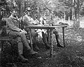 First World War, tableau, men, uniform Fortepan 15502.jpg