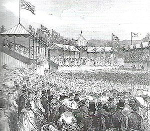 Firth Park (public park) - The ceremonial opening of Firth Park on 16 April 1875