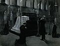Five priests praying around a coffin in a church Wellcome V0049554.jpg