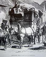 Flüelen Postabfahrt 1820