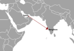 Flight Air India Express 812 route.png